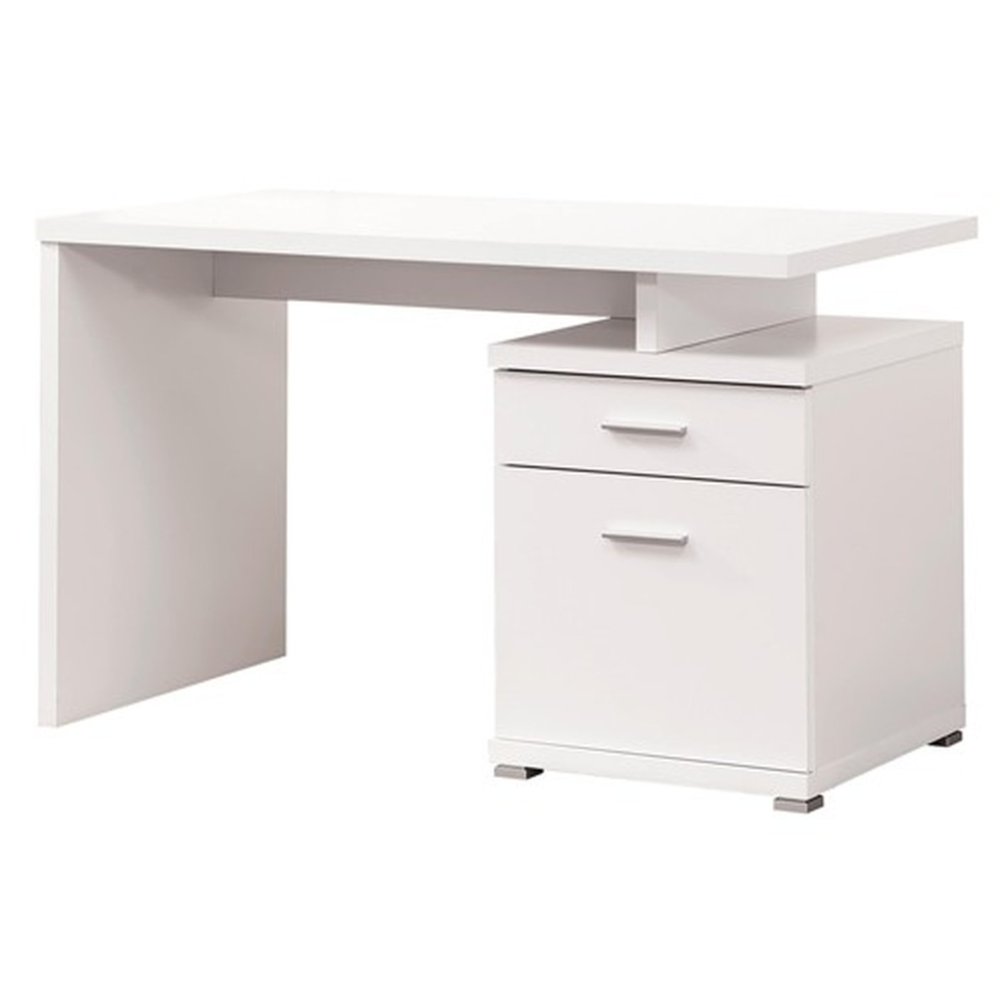Coaster 800110 White Metal Desk Steal A Sofa Furniture
