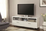 White Metal TV Stand