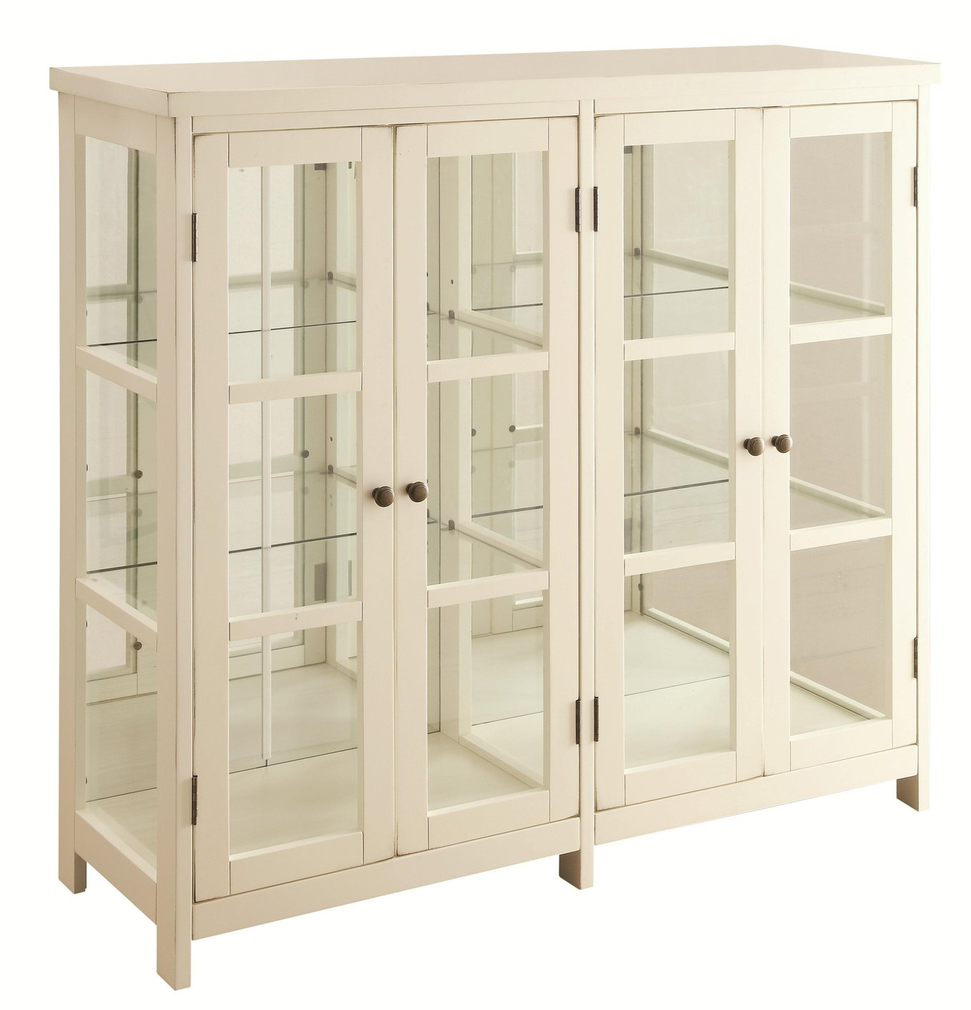 Coaster 950306 White Wood Accent Cabinet Steal A Sofa Furniture