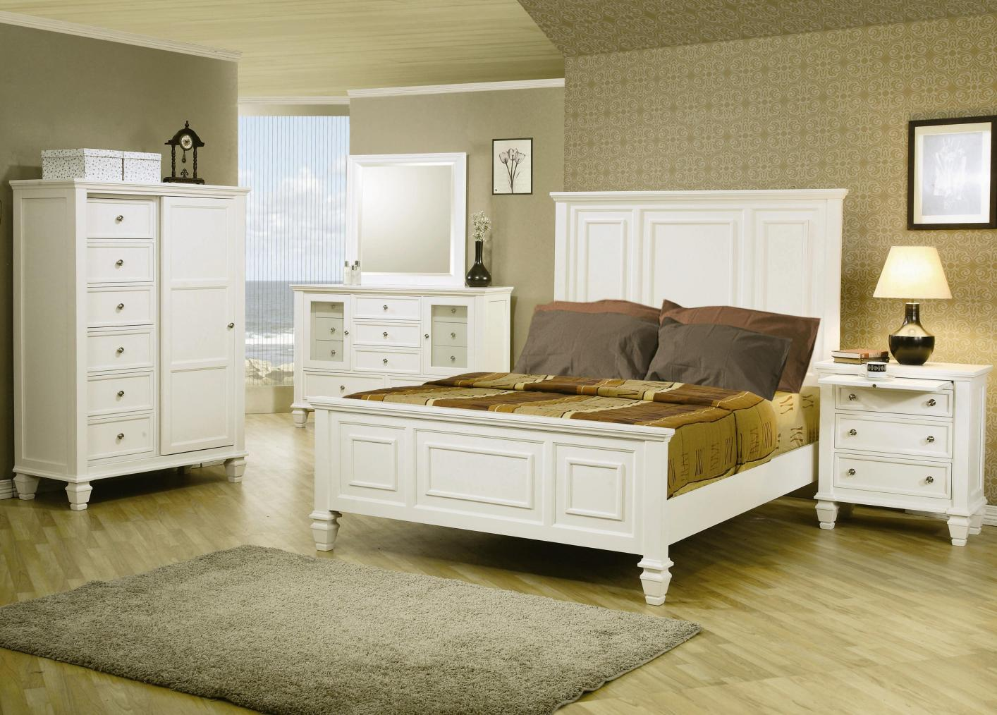 Queen Bedroom Suite Coaster 201301q White Wood Queen Size Bed Steal A Sofa Furniture