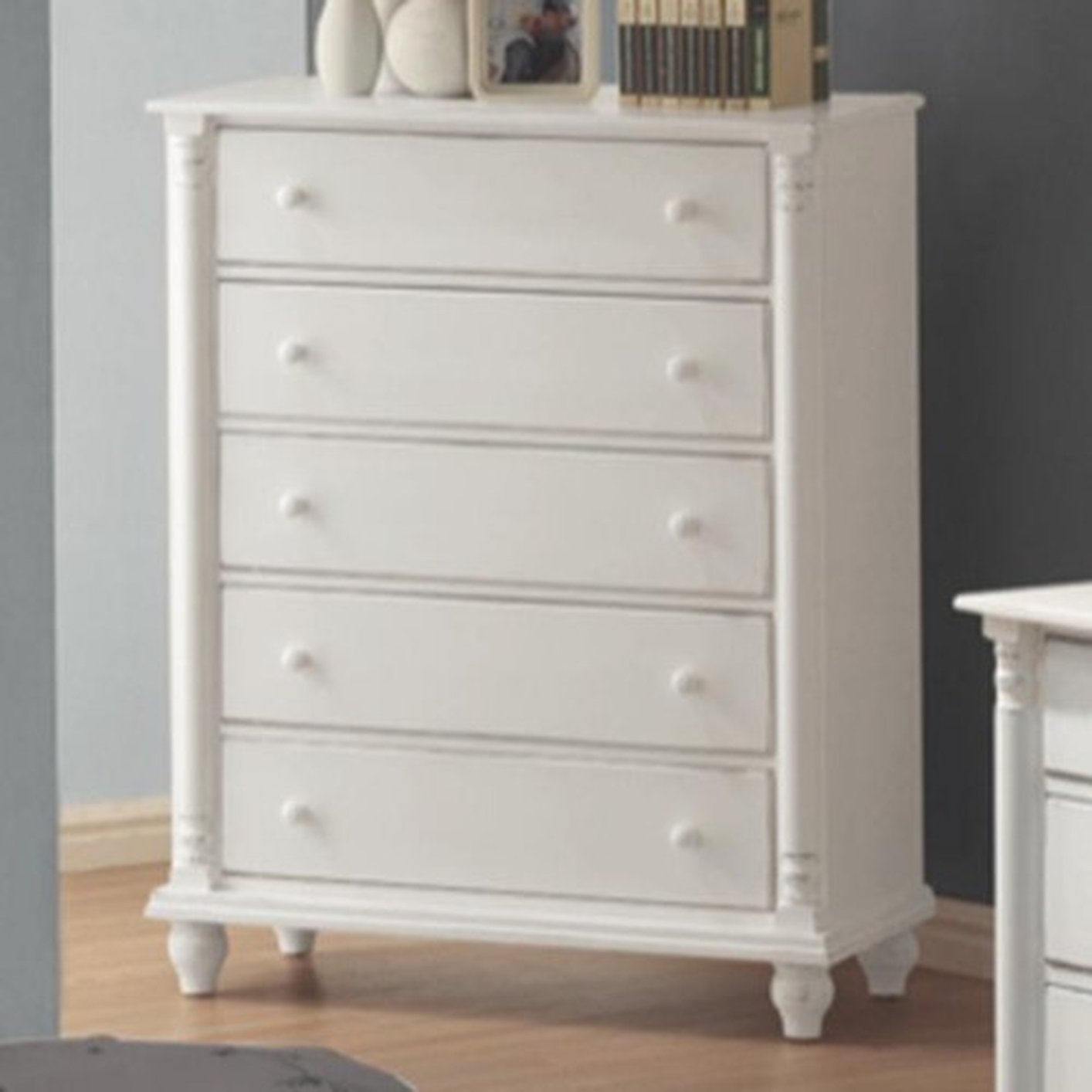 Coaster 201185 White Wood Chest Of Drawers Steal A Sofa