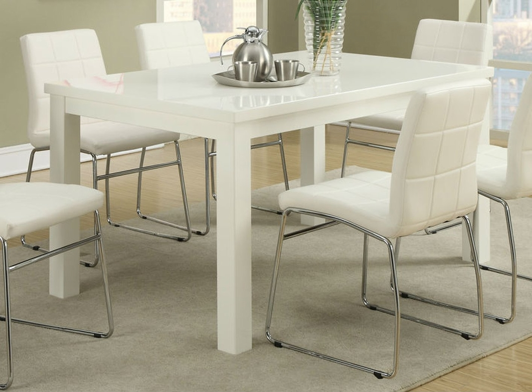 Poundex F2407 White Wood Dining Table Steal A Sofa  : white wood dining table 151 from www.stealasofa.com size 1067 x 787 jpeg 407kB