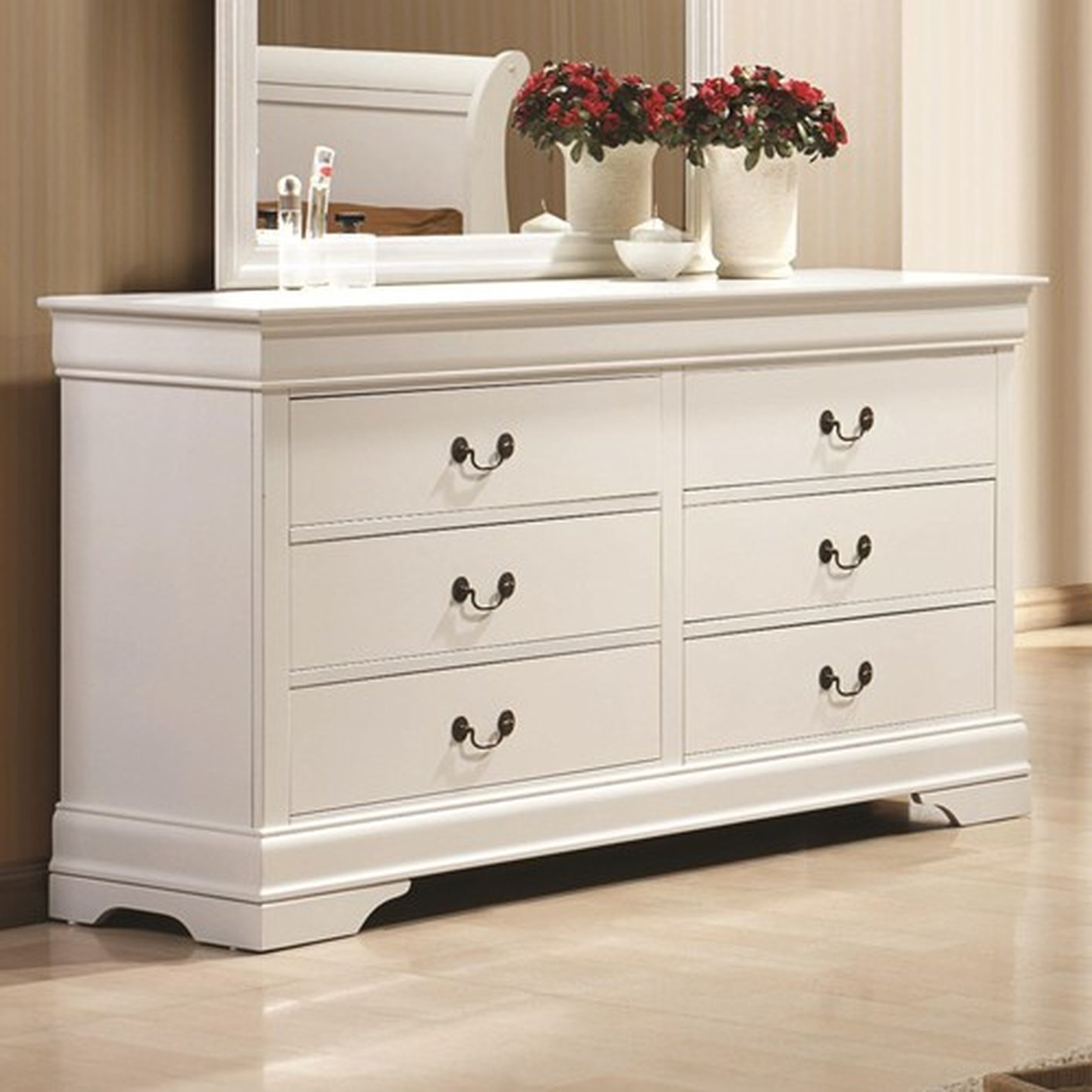 Coaster 204693 White Wood Dresser Steal A Sofa Furniture