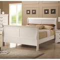 White Wood Full Size Bed