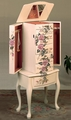 White Wood Jewelry Armoire