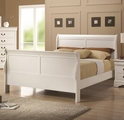 White Wood Queen Size Bed