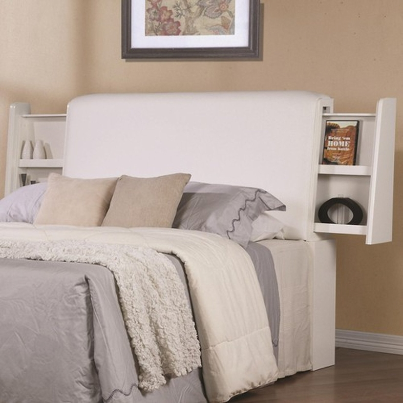 white wood queen size headboard 3