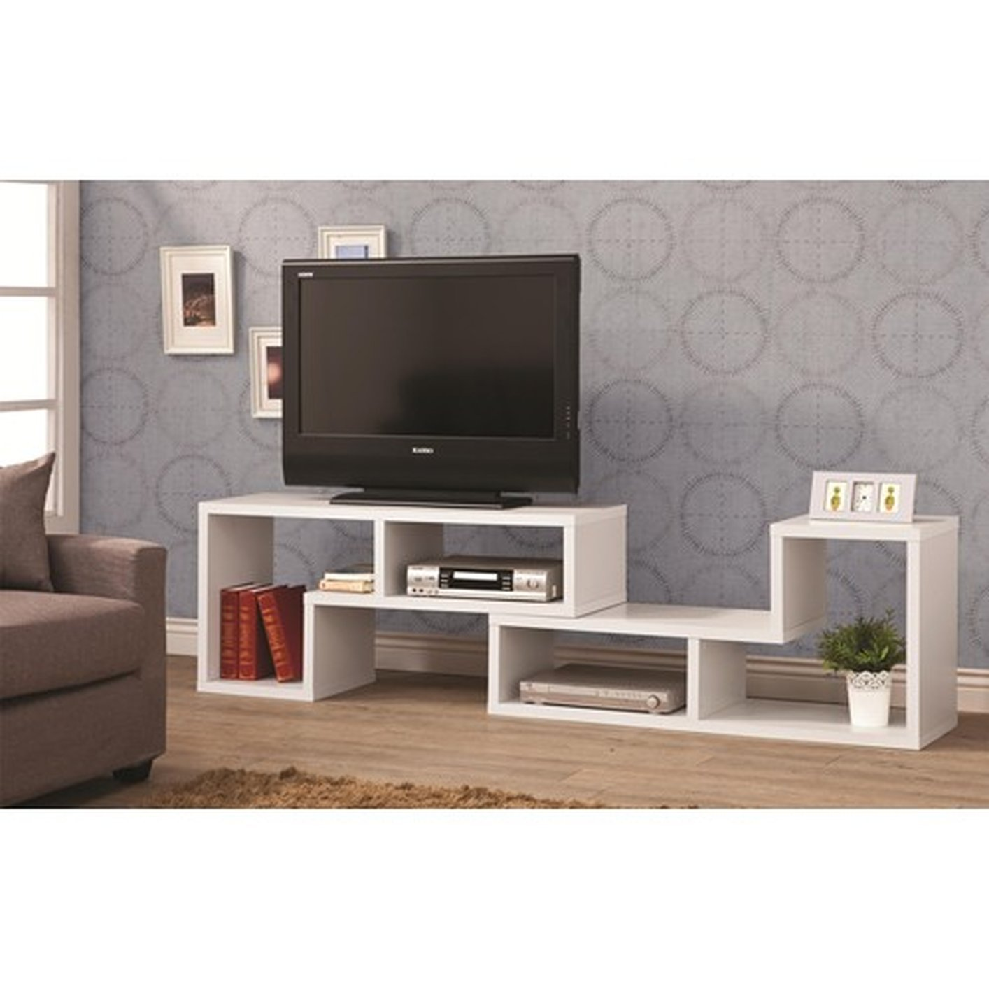 Coaster 800330 White Wood Tv Stand Steal A Sofa