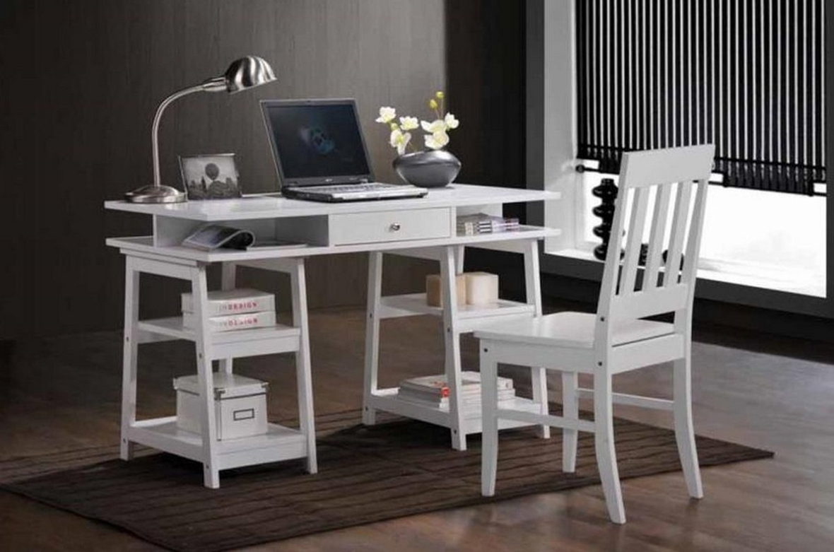 coaster 801233 white wood writing desk set steal a sofa furniture