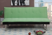 Wyona Green Leather Sofa Bed