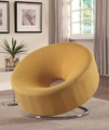 Yellow Fabric Accent Chair