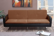 Zed Brown Leather Sofa Bed