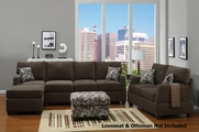 Zora Dark Grey Sectional Sofa
