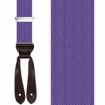 HERRINGBONE Silk Braces - PURPLE