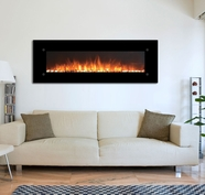 """The OnyxXL™<br> Touchstone 72"""" Fireplace Wall Mounted Electric Fireplace in Black"""