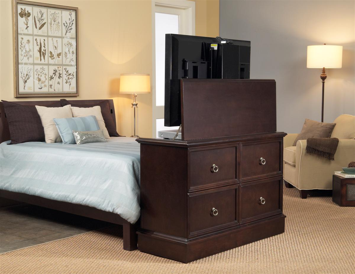 . Any Room Bedroom End of Bed TV Lift Cabinets