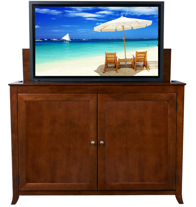 Berkeley Cherry Tv Lift Cabinet For Flat Screen Tvs Up To 60 Quot