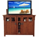 Bungalow Mission Oak TV Lift Cabinet