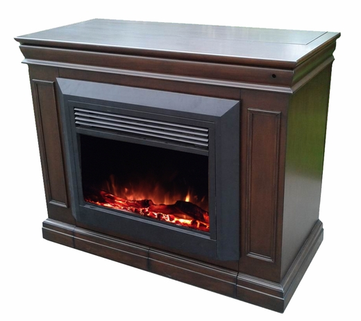 Fireplace Cabinets: The Conestoga TV Lift Cabinet With Electric Fireplace For