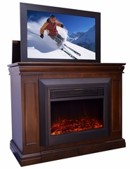 Conestoga TV Lift Cabinet with Electric Fireplace with heater