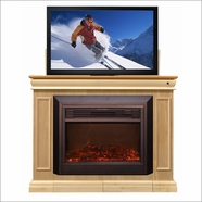 Conestoga TV Lift Cabinet With Electric Fireplace with Heater in 9 Finishes