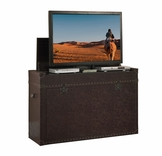 Ellis TV Lift Leather Trunk