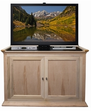 Hartford Unfinished Wood TV Lift Cabinet, 9 available finishes