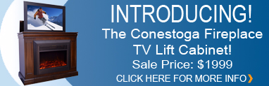 Conestoga TV Lift Cabinet with Electric Fireplace