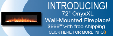 "OnyxXL 72"" Wall Mounted Fireplace"