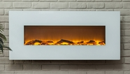 The Ivory� Touchstone's Wall Mounted Electric Fireplace with Heat in White