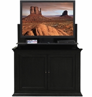 Lexington TV Lift Cabinet in Rich Black Finish Birch