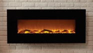 The Onyx� Touchstone's Electric Fireplace with Heat in Black