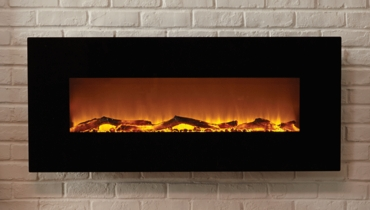 The Onyx® Touchstone's Electric Fireplace with Heat in Black