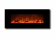 Refurbished Onyx Touchstone's Electric Fireplace with Heat in Black