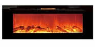 Refurbished Sideline Touchstone's Recessed Electric Fireplace with Heat in Black