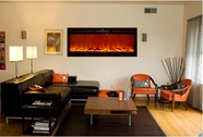 Sideline Recessed Electric Fireplace in Black