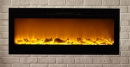 The Sideline� Touchstone's Recessed Electric Fireplace with Heat in Black
