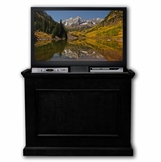 The Elevate™ in Rich Black Touchstone's Value Priced Wood TV Lift Cabinet