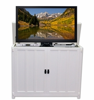 The Elevate™ Mission White TV Lift Cabinet