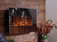 The Mirror Onyx� Touchstone's Electric Fireplace with Heat with Mirror Glass