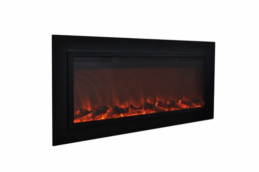 sidelinescreen 50 quot wall recessed electric fireplace in
