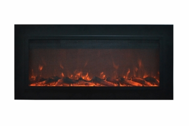 The Sideline®Steel Touchstone's Recessed Electric Fireplace with Heat and Steel/Screen Face