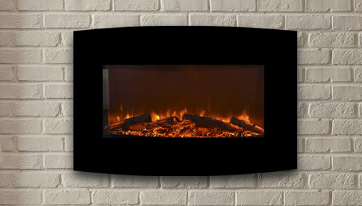 The Yardley Touchstone S 36 Quot Black Curved Electric Fireplace