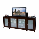 Tuscany Espresso Finish TV Lift Cabinet with Side Cabinets