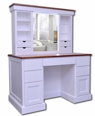 Vanity Desk with Illuminated Pop-up Mirror