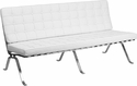 HERCULES Flash Series White Leather Sofa with Curved Legs [ZB-FLASH-801-SOFA-WHITE-GG]