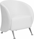 HERCULES Jet Series White Leather Reception Chair [ZB-JET-855-WH-GG]
