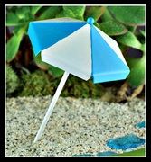 Mini Beach Umbrella Sky Blue