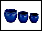 Mini Plant Holders Blue Ceramic