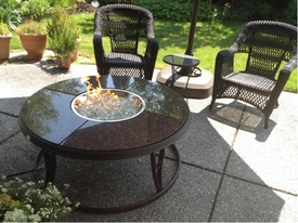 Granite Chat Fire Table